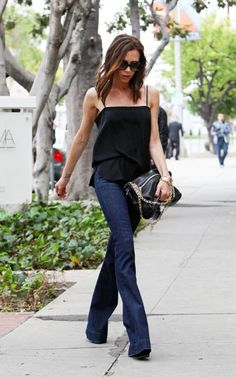 Victoria Beckham making a compelling case against skinny jeans.