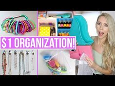 ONE DOLLAR organization ideas! Today I'm sharing 17 dollar tree organization hacks and ideas that will save you money. Home organization can be expensive, bu. Crafts For Teens To Make, Crafts To Sell, Diy And Crafts, Sell Diy, Kids Diy, Decor Crafts, Easy Crafts, Organisation Hacks, Storage Organization