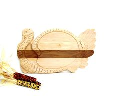 Vintage Turkey Wood Cutting Board Thanksgiving by OceansideCastle