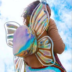 THAT BAG! Holographic butterfly backpack // pinterest: ashshila