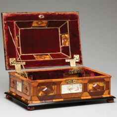 A 17th C Amber and Ivory Box.