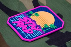 """STAY RAD PVC - Adding to the """"stay"""" and retro themes, we offer this gem for those who were around when this would have been cool or those just getting into synthwave. Hook fastener sewn on the back x Velcro Patches, Cute Patches, Pin And Patches, Police, 80s Theme, Tactical Patches, Morale Patch, Handmade, Stickers"""