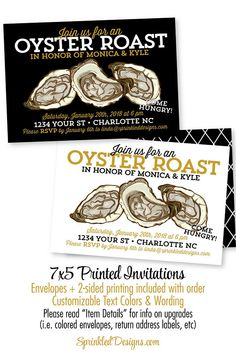 oyster roast invitations oyster roast dinner party invitation seafood party birthday party