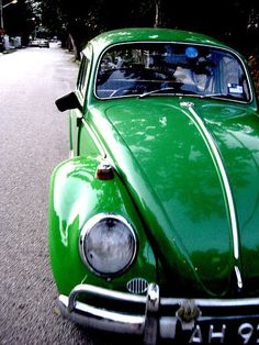 green volkswagon just like when I was younger