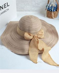 New Fashion sun hats Summer Cotton sun visor hat Beach hat for women ladies Large brim hat With Ribbons