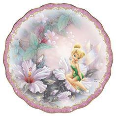 Disney Tinkerbell Lena Liu Sitting Pretty Bradford Exchange Plate