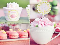 tea-party-cupcakes in tea cup