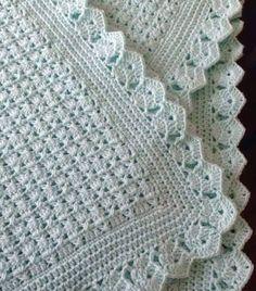 Crochet Blanket Border, Baby Afghan Crochet, Crochet Quilt, Crochet Borders, Baby Afghans, Afghan Crochet Patterns, Crochet Stitches, Knit Crochet, Baby Blankets