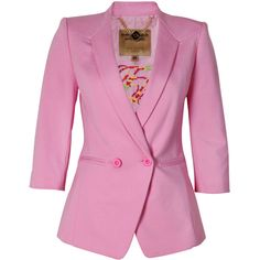 Ted Baker Meeda Blazer in Pale Pink ($380) ❤ liked on Polyvore