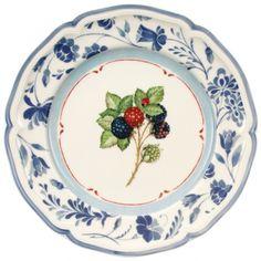 Villeroy & Boch Cottage Blue Stencil Salad Plate 8 1/4 in-01