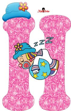 EUGENIA - KATIA ARTES - BLOG DE LETRAS PERSONALIZADAS E ALGUMAS COISINHAS: Alfabeto Patati e Patata Rosa School Frame, Send In The Clowns, Clowning Around, Circus Theme, Letters And Numbers, Nursery Decor, Smurfs, Happy Birthday, Girly
