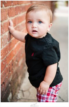Cute Baby strikes a pose Tate is 9 months! » Blink of an Eye Photography
