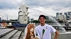 This guy takes his girlfriend to every place he travels to.