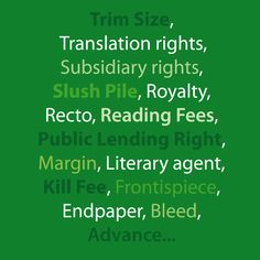 PUBLISHING TERMS GLOSSARY