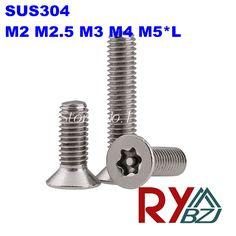 $9.00 (Buy here: https://alitems.com/g/1e8d114494ebda23ff8b16525dc3e8/?i=5&ulp=https%3A%2F%2Fwww.aliexpress.com%2Fitem%2FM3-8-Stainless-Steel-A2-torx-screw-6-lobe-screw-anti-theft-screw-SUS-304-Flat%2F32313851168.html ) 100pcs/lot M2 m2.5 M3 M4 M5*L  Stainless Steel 6-lobe screw anti-theft screw, SUS 304 Flat head torx screw with point for just $9.00