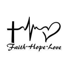 Items similar to Faith Hope Love Vinyl Decal Sticker Car Truck Boat Decal Window Sticker Kayak Decal on Etsy Tattoo Kind, Love Tattoos, Body Art Tattoos, Small Tattoos, Tatoos, Hope Tattoo Symbol, Easy Tattoos To Draw, Nurse Tattoos, Faith Hope Love Tattoo