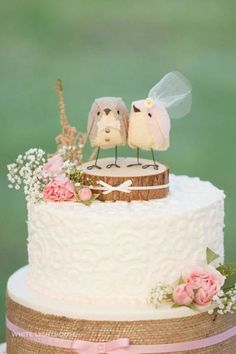 Always Forever bird cake topper Captured By Sarah Murray