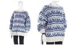 Vintage Wool Cowichan Sweater Unisex Chucky Knit Handmade Sweater Size Large #handmade #cowichansweater