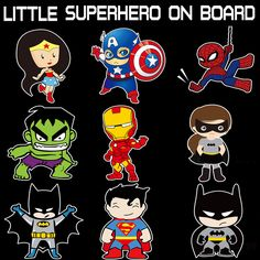 Little Superheroes Baby On Board Car-Styling Reflective Car Stickers/Decals for chevrolet cruze ford focus vw hyundai honda kia