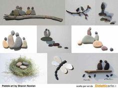 Pebble art by Sharon Nowlan