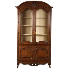 Auffray Country French Bibliotheque or Bar Cabinet | See more antique and modern Wardrobes and Armoires at https://www.1stdibs.com/furniture/storage-case-pieces/wardrobes-armoires