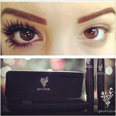 Youniques 3D fiber lash mascara!!! www.mymusthavemascara.com That looks so good and I've been wanting mascara !