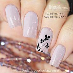 45 types of makeup nails art nailart 49 – Nails Cute Nails, Pretty Nails, My Nails, Flower Nails, Types Of Nails, Nagel Gel, Stylish Nails, Spring Nails, Christmas Nails