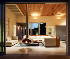 Great #fireplace at the Seadrift Residence by CCS Architecture