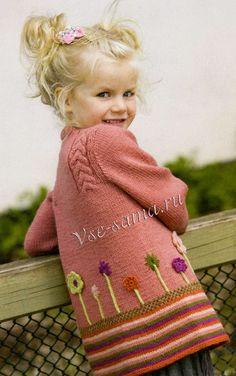 Жакет спицами для девочки - Вязание для детей - Страна Мам