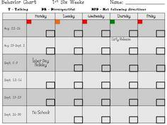 Great idea for next year: Clip Chart Update! Behavior Calendar, Classroom Calendar, Classroom Behavior, Behavior Log, Behavior Report, Kindergarten Behavior, Behavior Tracking, Behavior Goals, Classroom Discipline