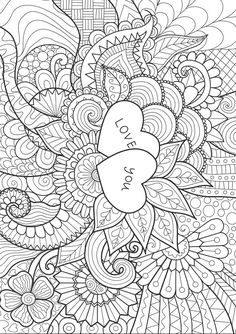Day Coloring Pages eBook: Love You Zentangle Free printable Valentine's Day coloring pages for use in your classroom and home from PrimaryGames.Free printable Valentine's Day coloring pages for use in your classroom and home from PrimaryGames. Heart Coloring Pages, Printable Adult Coloring Pages, Mandala Coloring Pages, Coloring Pages To Print, Coloring Sheets, Coloring Books, Free Coloring, Printable Valentines Coloring Pages, Valentines Day Coloring Page