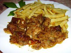 Vepřové dračky Crockpot, Pork, Food And Drink, Beef, Chicken, Pork Roulade, Healthy Slow Cooker, Pigs, Slow Cooker