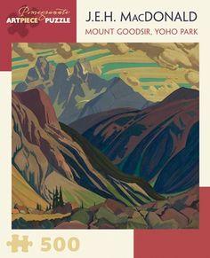 J.E.H. MacDonald: Mount Goodsir, Yoho Park 500-piece Jigsaw Puzzle