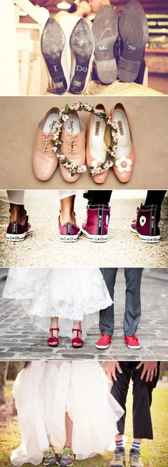 Praise Wedding » Wedding Inspiration and Planning » 18 Lovely Matching Shoes