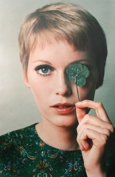 MIa Farrow is a classic - her bangs were always asymmetrical and almost haphazard, i love that. it's very edgy i think