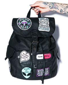 8e65a8e987da Disturbia Numb Backpack Black One Черные Рюкзаки, Кожаные Сумки, Настоящая  Кожа, Мода Сумки