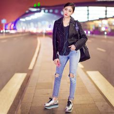 The effortlessly stunning @zhangtianai1028 in her #HOGAN #FW1617 #H222 Maxi Platform #sneakers  Join the #HoganClub #lifestyle and share with us your @hoganbrand pictures on Instagram