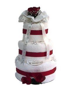 Wedding Towel Cake | Wedding towel cake