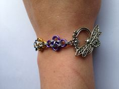 Dragonfly Chainmaille Bracelet on Etsy, $35.00 CAD