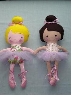 Custom Cloth doll Ballerina doll baby doll dress up by cocomia, $35.00
