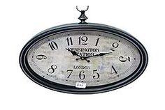 Oval Iron Clock - $56.49