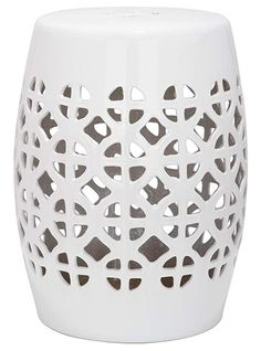Shop Safavieh Circle Lattice Garden Stool at Lowe's Canada. Find our selection of garden stools at the lowest price guaranteed with price match. Ceramic Stool, Ceramic Garden Stools, Small Deck Decorating Ideas, Decor Ideas, Lattice Garden, Square Lattice, Multipurpose Furniture, Wedding Chairs, Accent Pieces