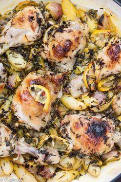 Roast Chicken with Jerusalem artichoke and lemon recipe
