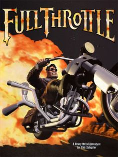 Full Throttle is a computer adventure game developed and published by LucasArts. It was designed by Tim Schafer, who would later go on to design Grim Fandango, Psychonauts and Brütal Legend. The game features voice actors Roy Conrad and Mark Hamill. It was released on April 30, 1995. It is the tenth game to use the SCUMM adventure game engine.