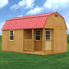 Side Lofted Barn Cabin Derksen Portable Buildings - for my Business for next yr. Claiming it in JESUS name AMEN :) Shed Plans 12x16, Wood Shed Plans, Free Shed Plans, Shed Building Plans, Storage Shed Plans, Building A House, Building Ideas, Building Homes, Building Design