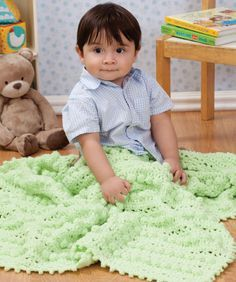 This lusciously soft baby blanket is created with an interesting mix of stitches that are fun to crochet!