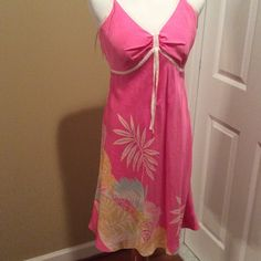 Awesome pink dress New with tags Awesome dress stand out at any party new with tags adjustable straps 100% silk Toni Richards Dresses