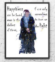 Harry Potter Watercolor Print Albus Dumbledore by gingerkidsart