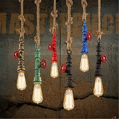 61.70$  Watch here - http://aliigy.worldwells.pw/go.php?t=32592515040 - Water Pipe Lamp Style Loft Industrial Pendant Lights Fixtures For Dinning Room Vintage Light Lamparas Handlamp