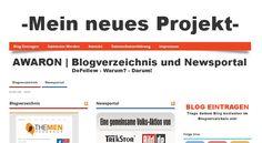AWARON.de ist in erster Linie ein Blogverzeichnis, in dem du deinen Blog kostenlos eintragen kannst und somit nicht nur einen wertvollen Dofollow Backlink bekommst, sondern auch mehr Traffic für deinen Blog! Des Weiteren ist AWARON.de auch ein Newsportal, in dem du die interessantesten News zu den verschiedensten Themen bekommst.